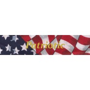 Patriotic Buckle Martingale Collar
