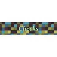 Checks Print Buckle Martingale Collar