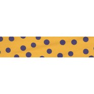 Gold with Purple Dots