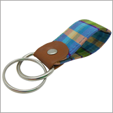 Key Fob Fabric Chain Ring